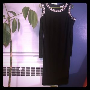 New York & Company bedazzled Cold Shoulder Dress